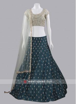 Raw Silk Designer Lehenga Set