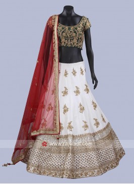 Raw Silk Designer Lehenga Set