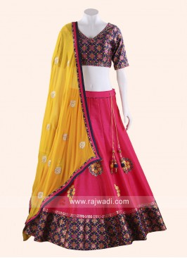Raw Silk Designer Navratri Chaniya Choli