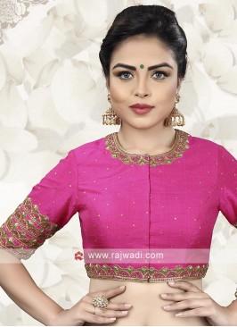 Raw Silk Designer Ready Choli