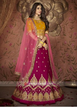 Raw Silk Designer Wedding Lehenga Choli