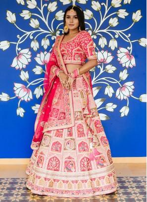 Raw Silk Designer Wedding Lehenga Choli