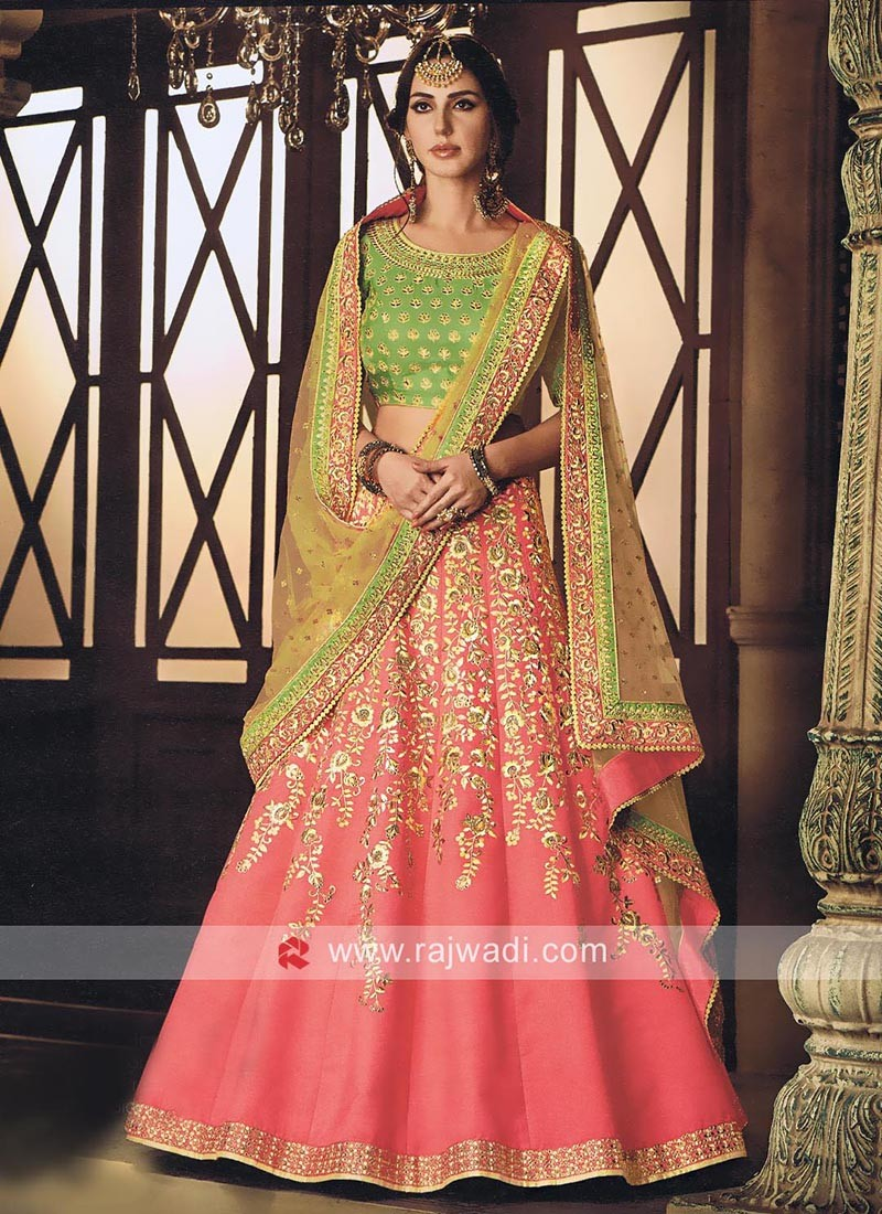be9d61dd94 Raw Silk Embellished Lehenga Set. Hover to zoom