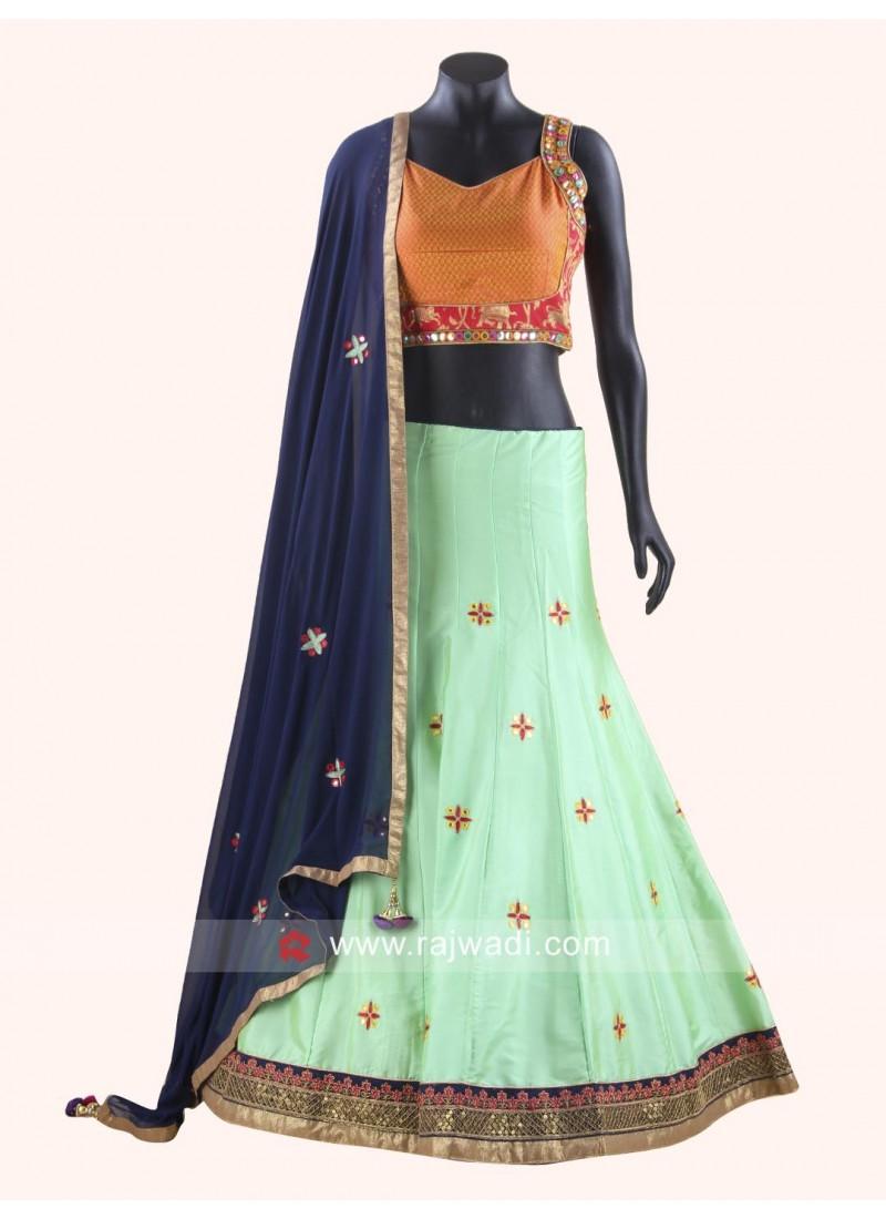 Raw Silk Fabric Chaniya Choli