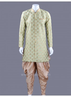 Raw Silk Fabric Patiala Suit