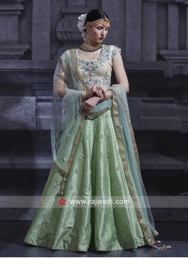 Raw Silk Heavy Work Lehenga Set