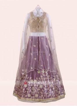 Raw Silk Koti Style Choli Suit