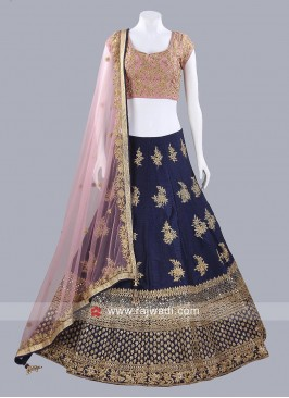 Raw Silk Lehenga Choli