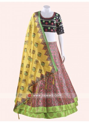 Raw Silk Readymade Chaniya Choli