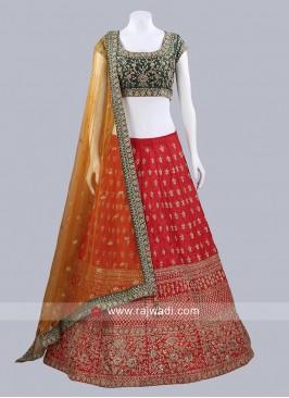 Raw Silk Readymade Lehenga Choli