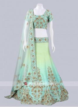 Raw Silk Shaded Lehenga Choli