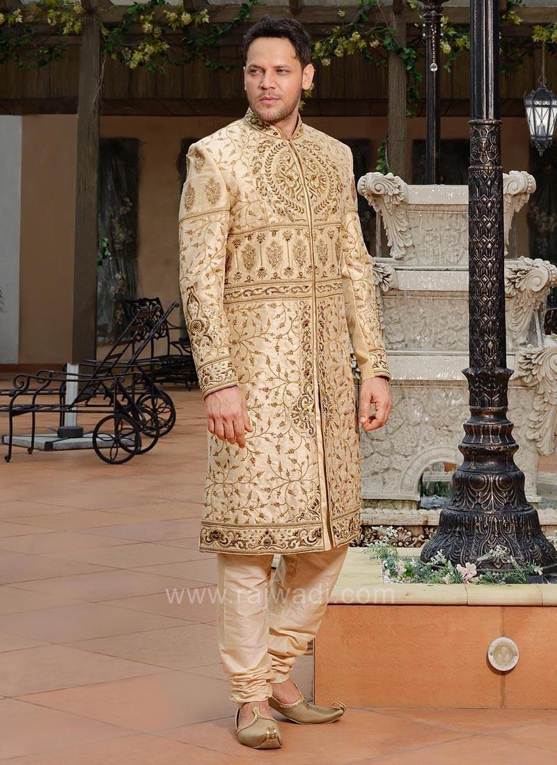 Raw silk Sherwani