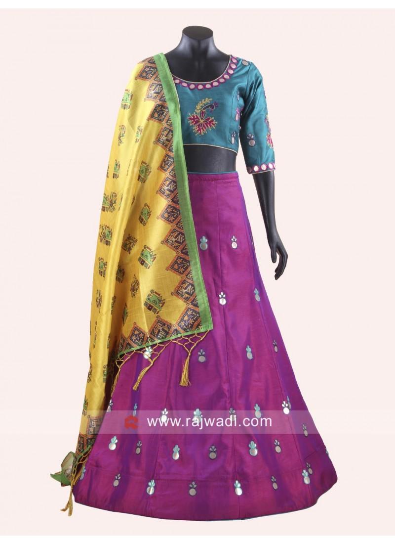 Raw Silk Stitched Chaniya Choli for Navratri