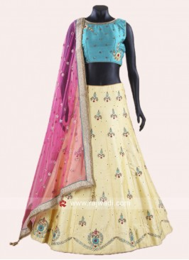 Raw Silk Stitched Lehenga Choli