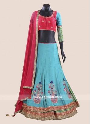 Raw Silk Traditional Chaniya Choli