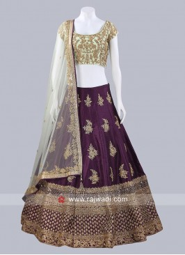 Raw Silk Traditional Lehenga Choli