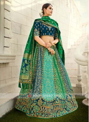 Silk Unstitched Lehenga Choli