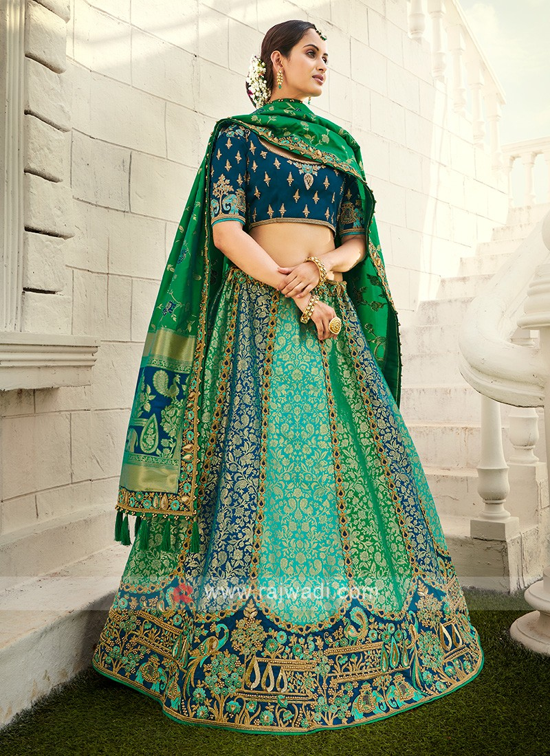 Silk Unstitched Lehenga Choli