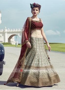 Raw Silk Wedding Lehenga Choli