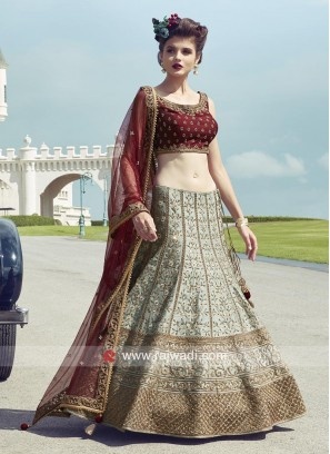 Raw Silk Wedding Lehenga Choli