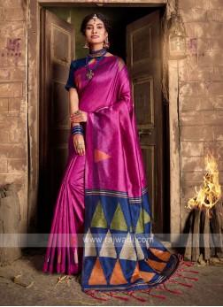 Raw Silk woven Saree