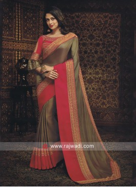 Raw Silk Zari Work Saree