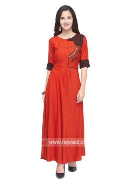 Rayon Ankle Length Anarkali Kurti