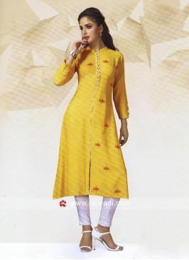 Rayon Cotton Golden Tunic