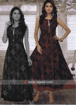 Rayon Cotton Long Kurti