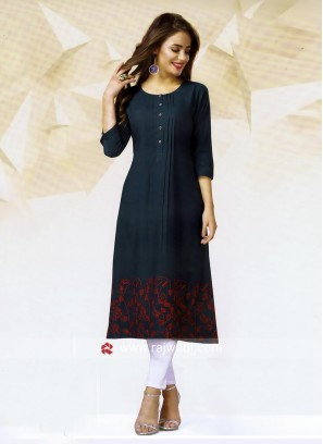 Rayon Cotton Straight Fit Kurti
