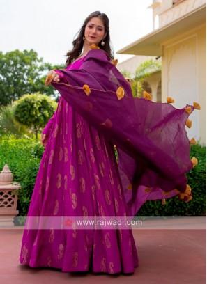 Rayon Silk Anarkali Suit