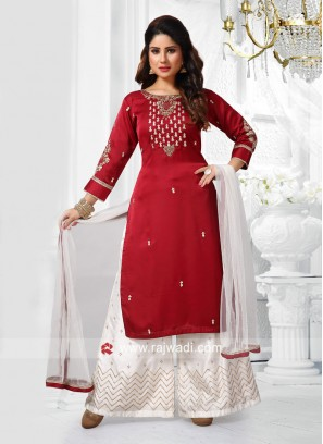 Rayon Silk Casual Palazzo Suit