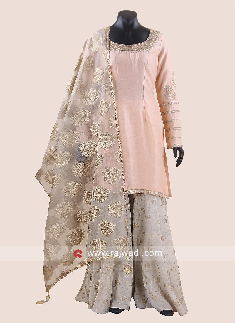 Rayon Silk Designer Palazzo Suit for Eid