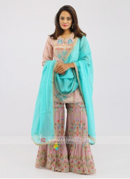 Rayon Silk Gharara Suit