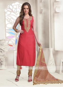 Ready Made Cotton Silk Salwar Kameez