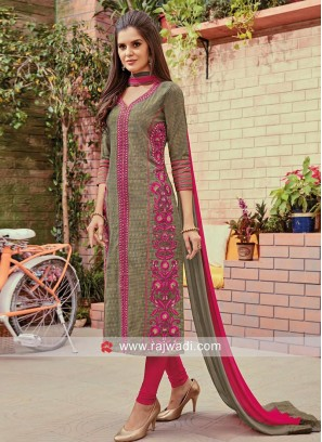 Ready Made Embroidered Salwar Suit