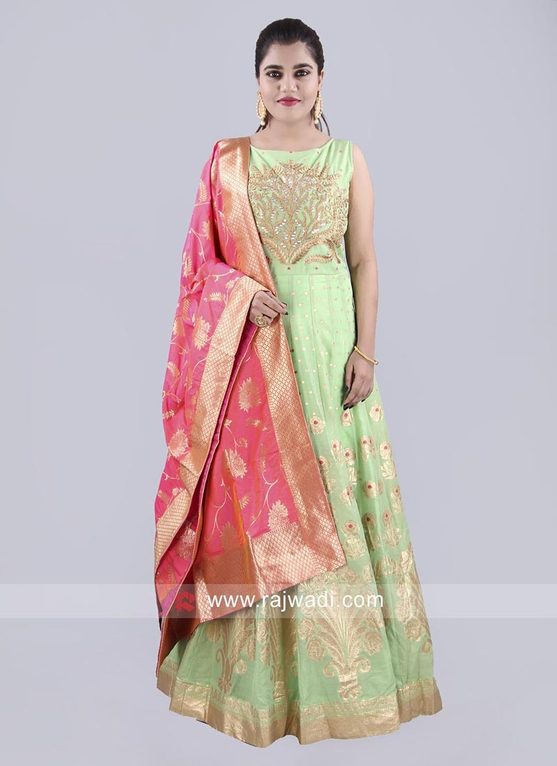 Ready Made Floor Length Anarkali Suit