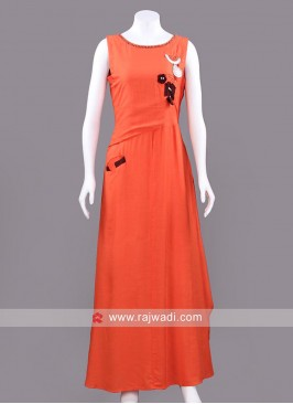 Ready Made Long Kurti with Side Pocket