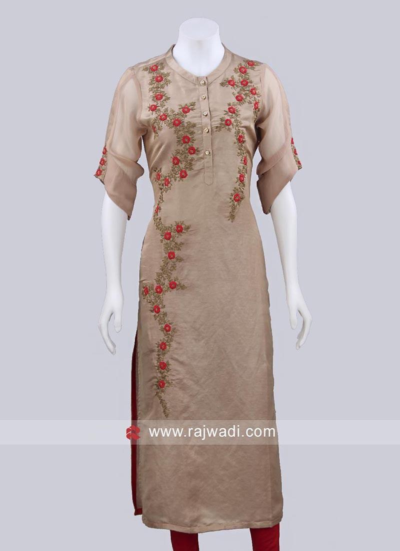 Ready to Wear Silk Kurti