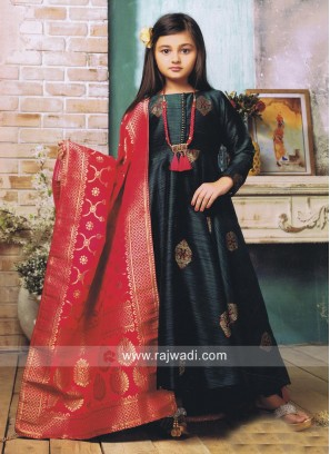 Readymade Anarkali Suit with Necklace
