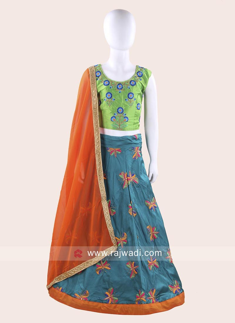 Readymade Art Silk Ghagra Choli