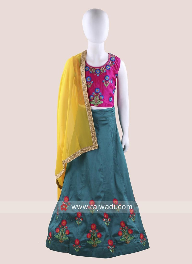 Readymade Art Silk Girls Chaniya Choli