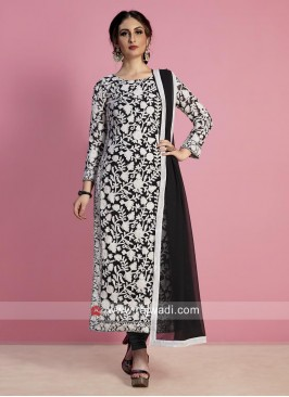 Readymade Black Churidar Salwar Kameez