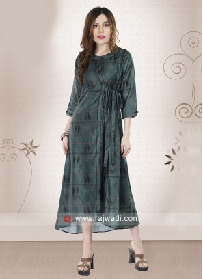 Readymade Bottle Green Kurti