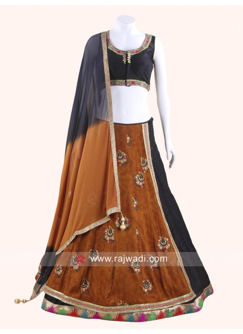 Readymade Chaniya Choli in Art Raw Silk