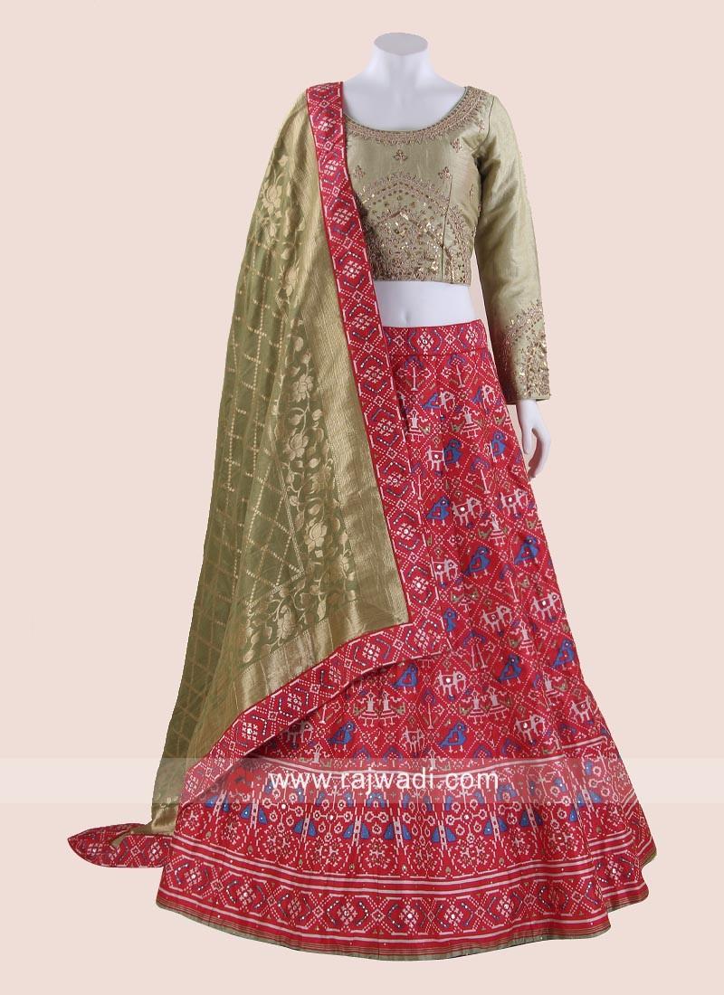 Soft Silk Choli Suit with Banarasi Dupatta