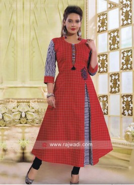 Readymade Cotton Kurti with Side Slit