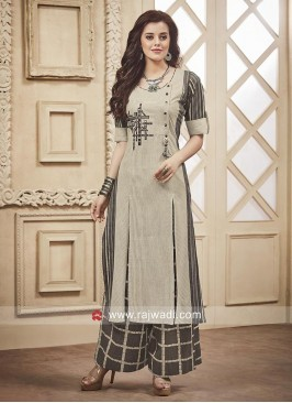 Readymade Cotton Palazzo Suit