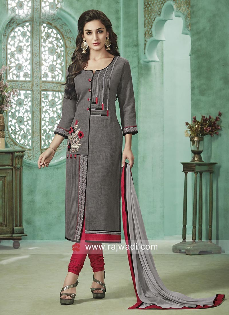 Readymade Cotton Rayon Salwar Suit
