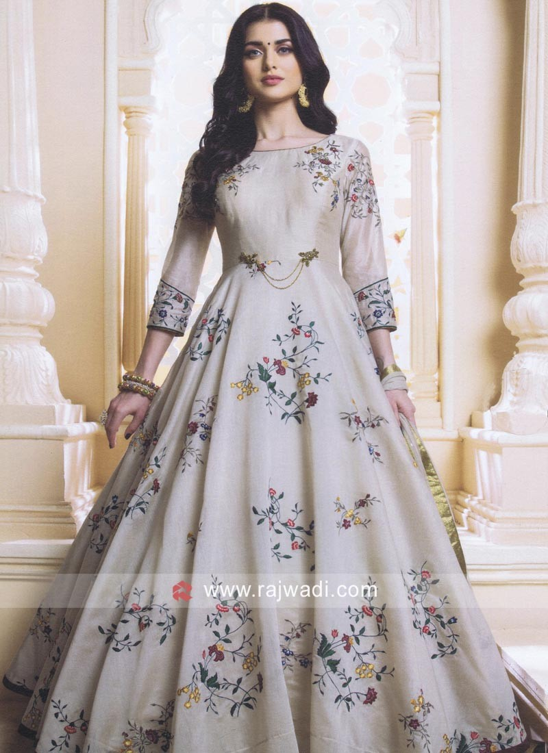 Readymade Cotton Silk Anarkali Suit